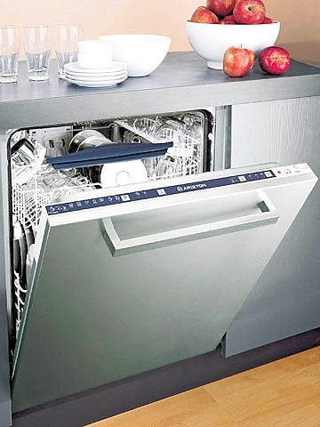 Quiet, Built-In Dishwasher-- Designed to operate at an ultraquiet 49 decibels, this dishwasher improves cleaning -- no more spotty or cloudy-looking dishes. Hidden controls give the dishwasher a contemporary look.  Model LI700 X  $1,249  Ariston Appliances aristonappliances.us