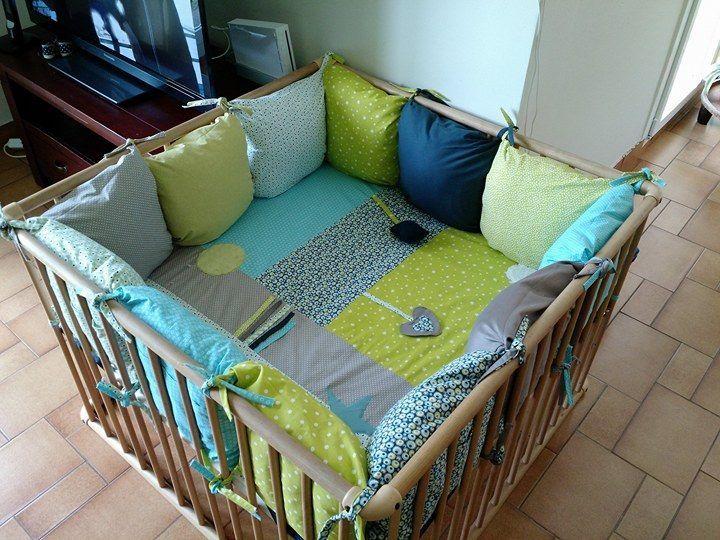 parc à jouet - tour de parc : réalisation couture maison