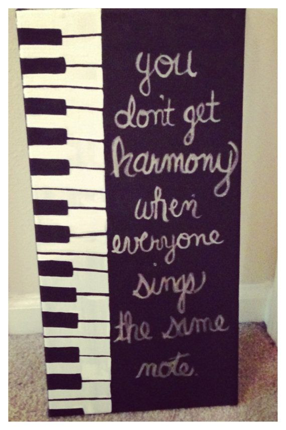 Piano Canvas Quote Painting