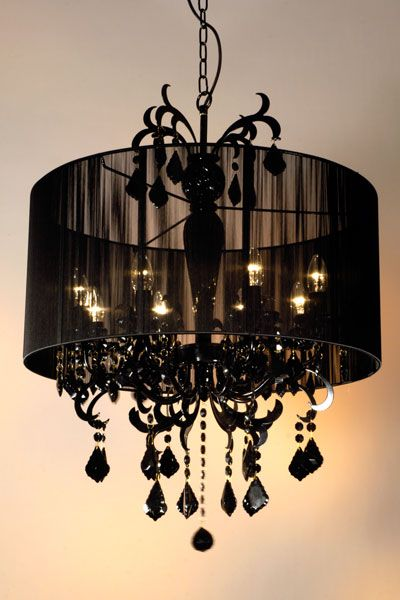 Black chandelier  (in silver or white instead)