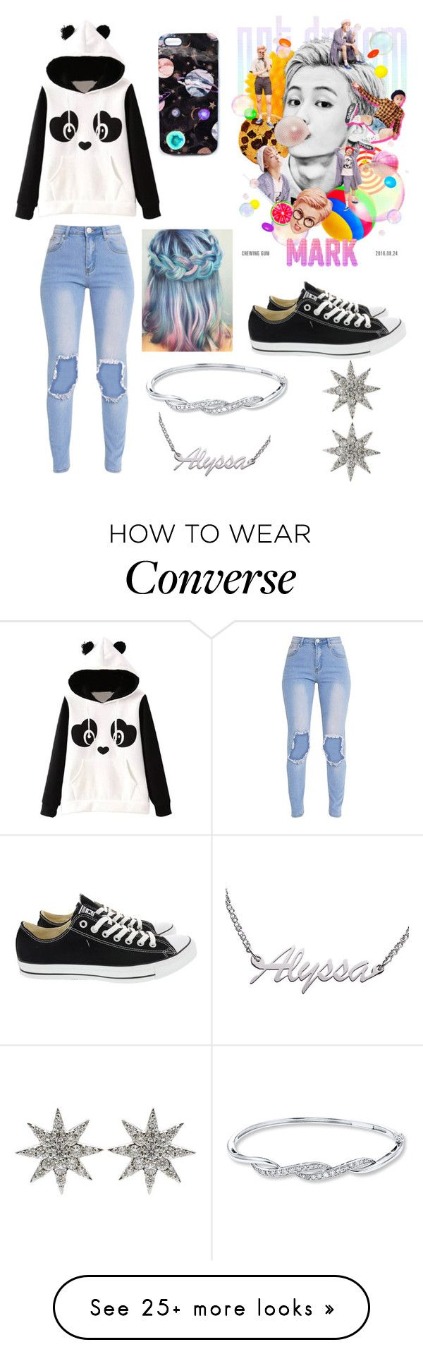 """Alyssa"" by darkwolf15 on Polyvore featuring Ultimo, Converse, Nikki Strange and Bee Goddess"