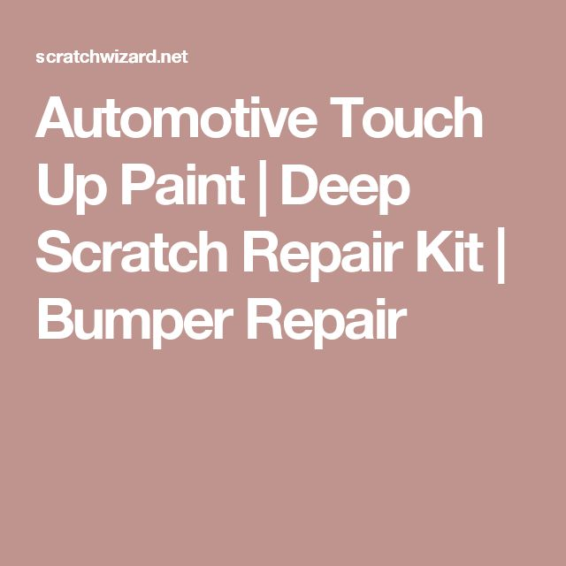 Automotive Touch Up Paint   Deep Scratch Repair Kit   Bumper Repair