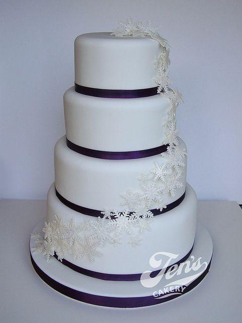 winter wedding cakes | Christina's Winter Wedding Cake | Flickr - Photo Sharing!