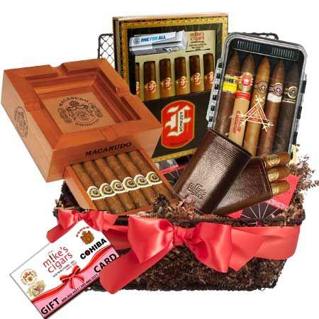 46 best canastas navideas images on pinterest hamper business cigar gourmet gift basket each negle Images