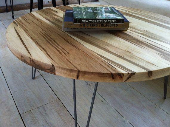 Round Coffee Table, Mid Century Modern Style Featuring