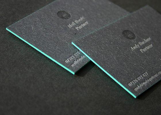 55 best business cards images on pinterest carte de visite visit edge painted letterpress business cards by blush clever business card behance reheart Images