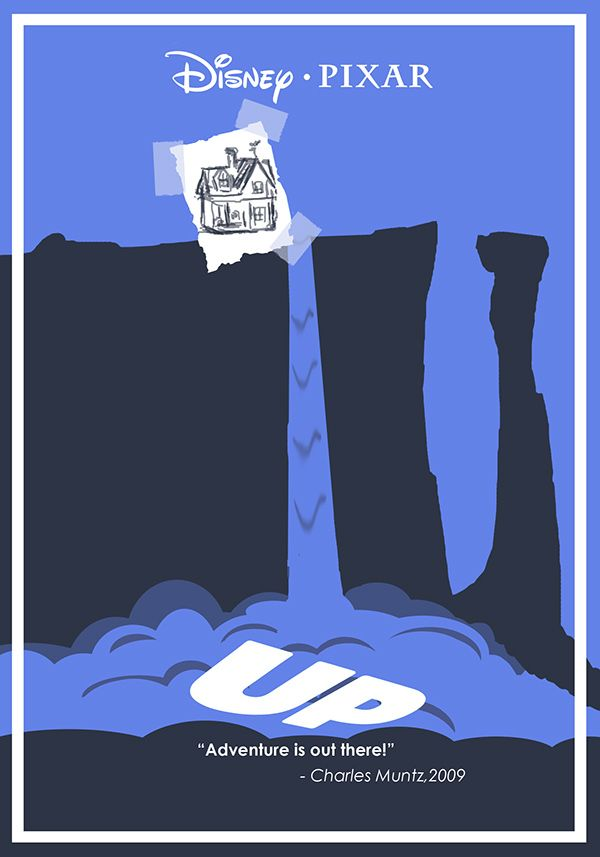 Up (2009) ~ Minimal Movie Poster by Ben Xue #amusementphile