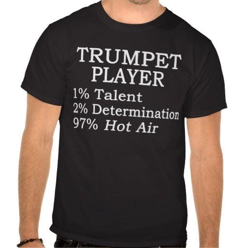 Trumpet Player Hot Air T Shirt