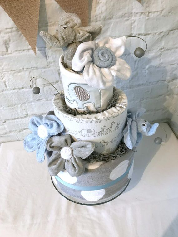Elefante de pañales torta elefante bebé ducha bebé ducha