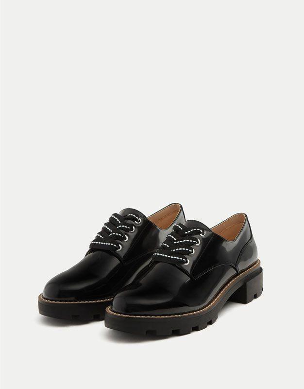 Blucher cordón fantasía. - Ver todo - Zapatos - Mujer - PULL&BEAR Costa Rica