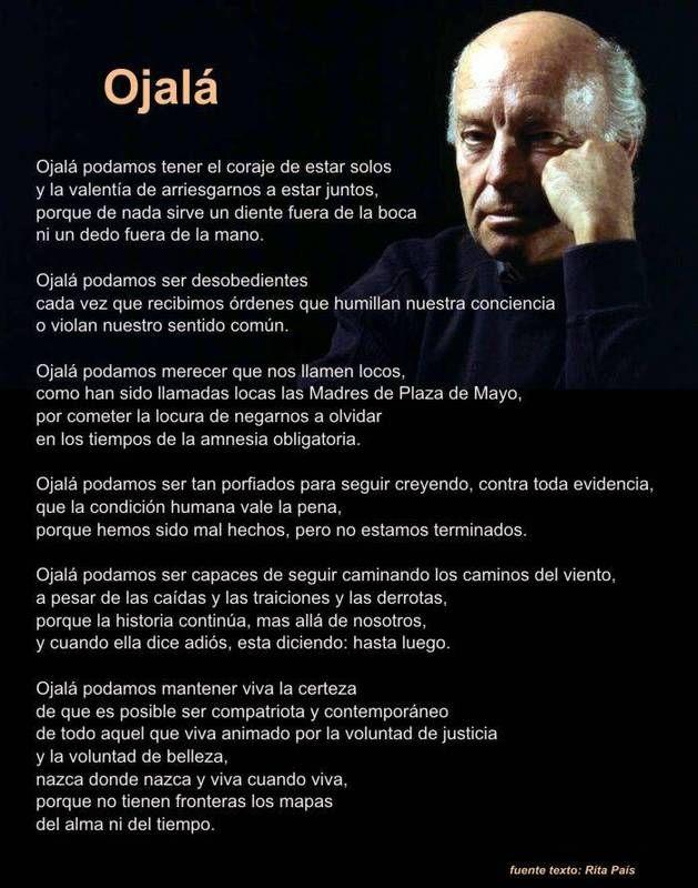 Eduardo Galeano  (3 September 1940 – 13 April 2015)