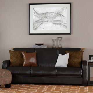 Shop for Portfolio Trace Convert-a-Couch Brown Renu Leather Futon Sofa Sleeper…