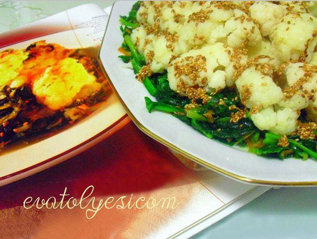 Ispanaklı Karnabahar Salatası