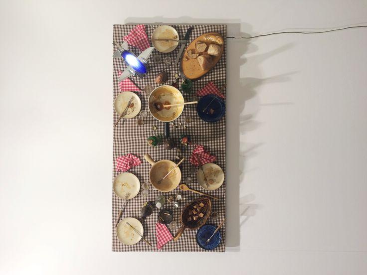 "Daniel Spoerri ""Faux tableau piege"" 2010 [Levy Gallery] #artbasel2015 #artbaselgalleries #artfair #artbasel #contemporaryart #artaddict #basel"