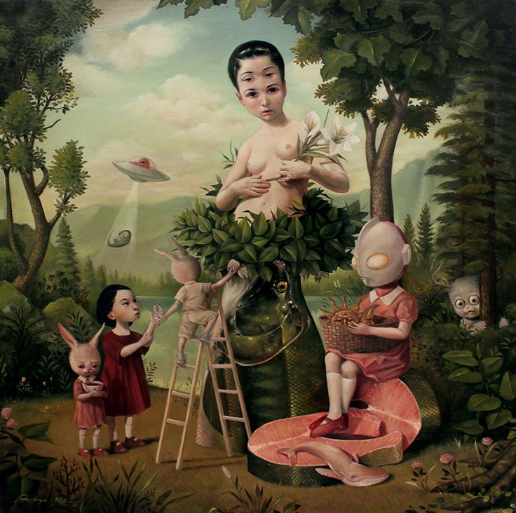 Surreal Paintings by Roby Dwi Antono | Faith is Torment | Art and Design Blog