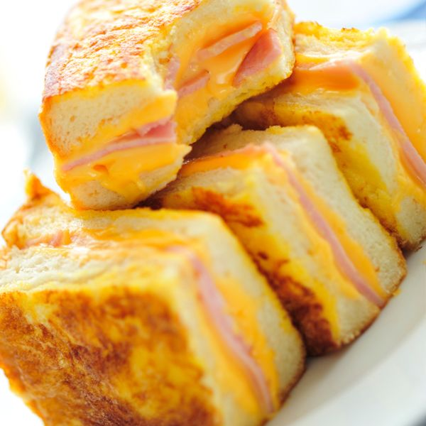 A Hearty recipe for ham and cheese french toast. This is a yummy meal the whole family will enjoy.. Ham and Cheese French Toast Recipe from Grandmothers Kitchen.