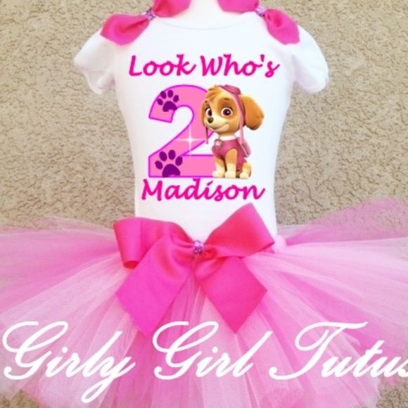 Paw patrol birthday outfit Baby up to size 6x www.girlygirltutus.com Other