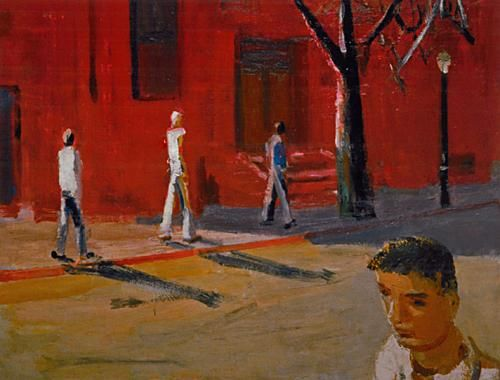 David Park: Boston Street Scene, 1954; paintings from Helen Park Bigelow's David Park, Painter: Nothing Held Back, just published by Hudson Hills Press