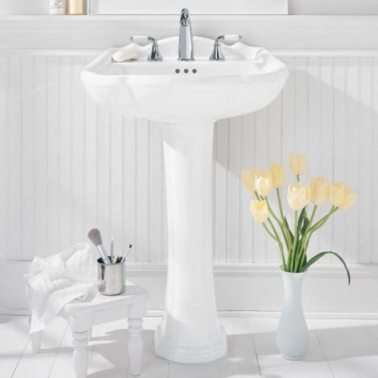 pedestal sink or vanity in small bathroom%0A American Standard Repertoire Pedestal Sink with Amarilis Faucet        Bathroom  Sinks  Bathroom Fixtures  Bed  u     Bath