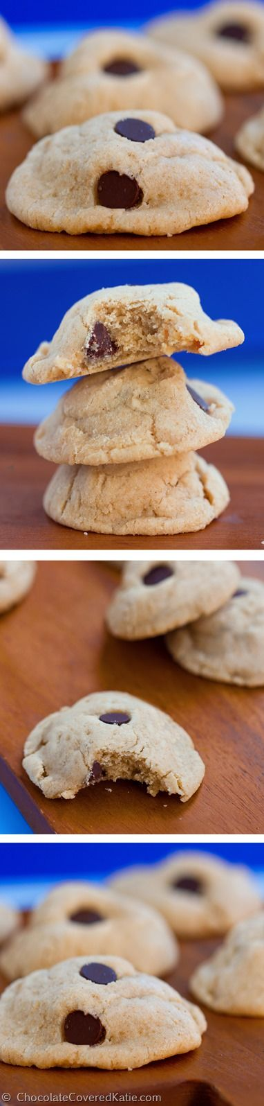 The lightest, softest, chewiest, most delicious cookies you will ever put in your mouth! (Yes, seriously) http://chocolatecoveredkatie.com/2015/02/10/chocolate-chip-cream-cheese-cookies/ @choccoveredkt