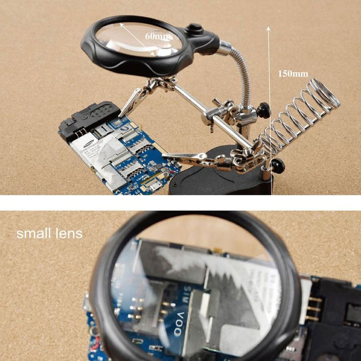 Helping Hand lighted Magnifier Magnifying Glass LED Light Soldering Repair Stand