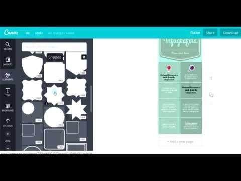 Jak zrobić infografikę w programie Canva. Cz. 2 - YouTube