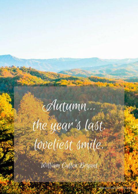 Autumn the year's last loveliest smile
