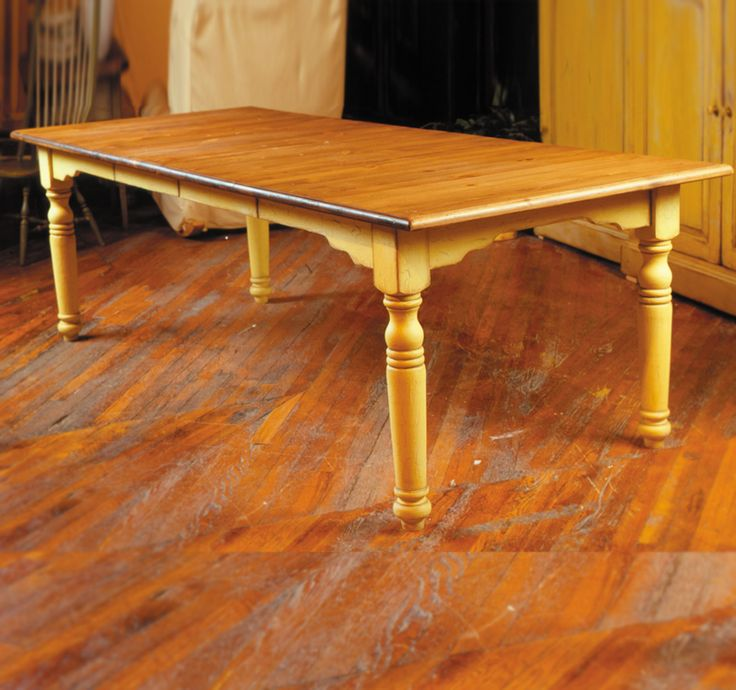 WORKTABLE WITH SMALL FARMHOUSE LEGS Eddy West. Furniture ...