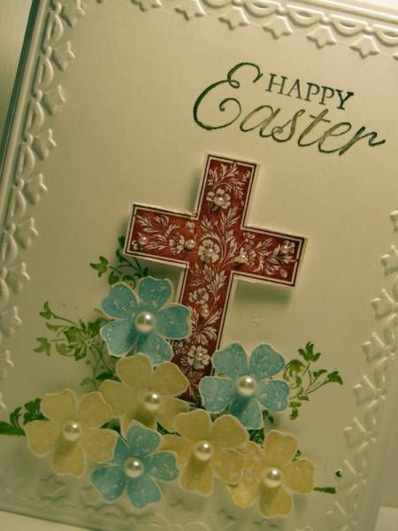 Easter card: Cards Ideas, Easter Cards, Easter Spr, Crosses Cards, Cards Easter, Paper Crafts, Happy Easter, Cards W Crosses, Cards Crosses