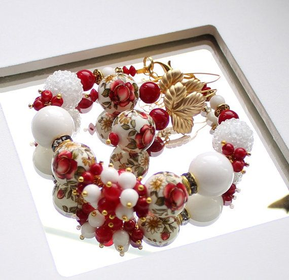 Strawberries and cream  Tenshi set of fashion от BijouMaster, $84.00