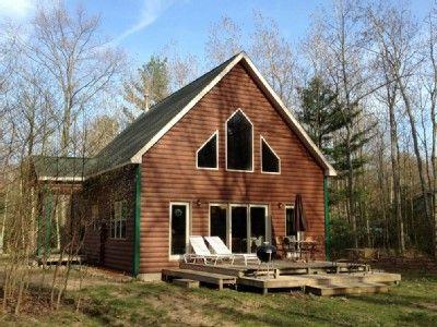 VRBO.com #158983 - Silver Lake Log Cabin Rental with Lake Michigan Beach Access