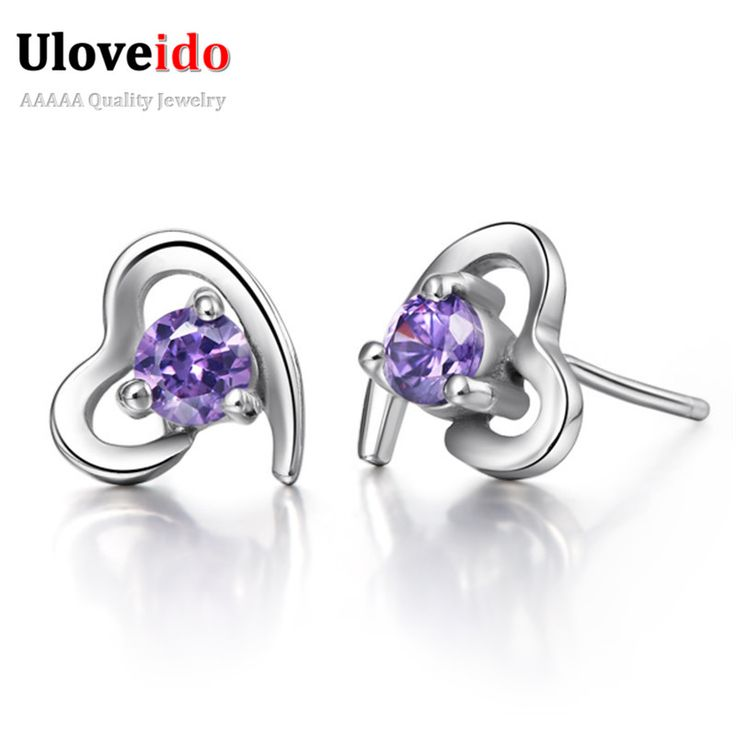 Find More Stud Earrings Information About 15 Off Promotion Free Shipping Silver White Purple