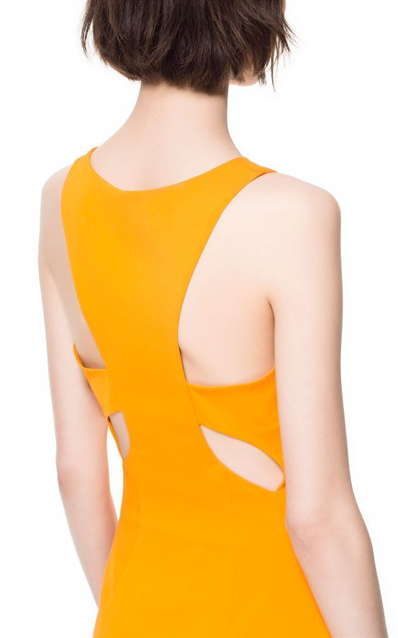 DRESS WITH CUT-OUT DETAIL AT THE BACK - Dresses - Woman - ZARA United States