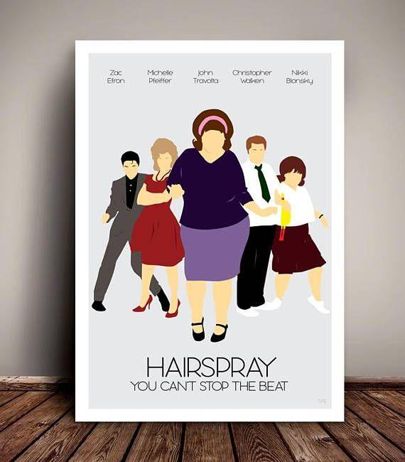 Hairspray // Minimalist Movie / Musical Poster // Unique A4 /