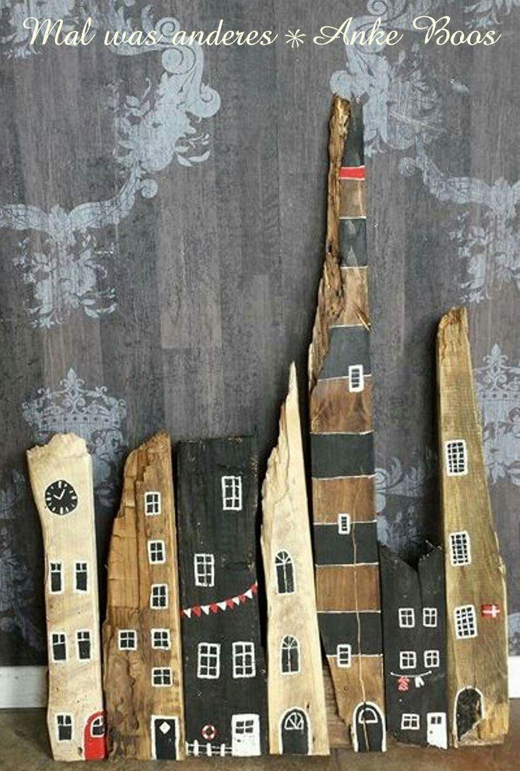 49 best painted stones old wood bemalte steine altes holz pebble art images on pinterest - Gartendeko aus altem holz ...