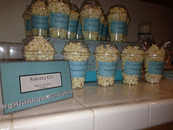 He Popped The Question Bridal Shower Popcorn