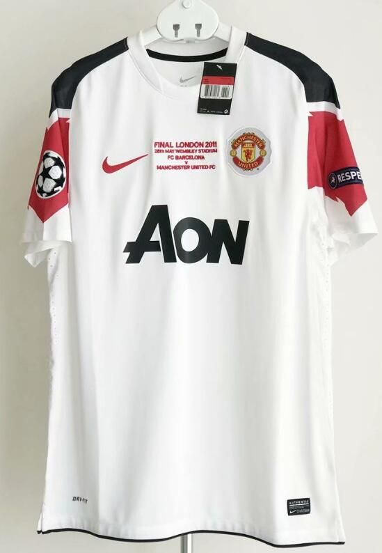 9e911e23b95 Manchester United UEFA Champions League Final Away Shirt 2010 11 Retro –  www.worldsoccerfootballshop.com