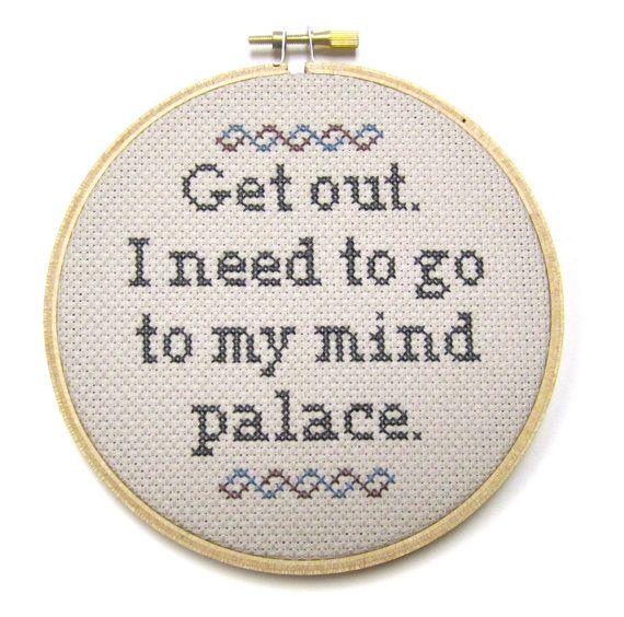 Mind Palace  Sherlock Cross Stitch Hoop by BananyaStand on Etsy