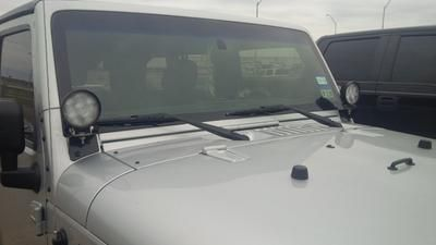 """After purchasing a pre-owned Jeep Wrangler, I noticed that the work lights had been removed and the mounting brackets were still affixed to the vehicle. Instead of removing the brackets I was able to find these replacement work lights for a great discounted price. The style and color was a perfect match."" -USDOT  from Laredo, Texas"