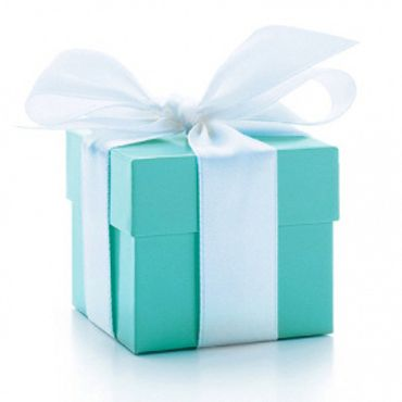 Tiffany Colour Wedding Favour Gift Box