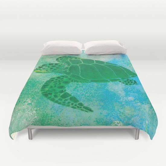 Sea Turtle Graphic Duvet Cover or Comforter Kemp's Ridley