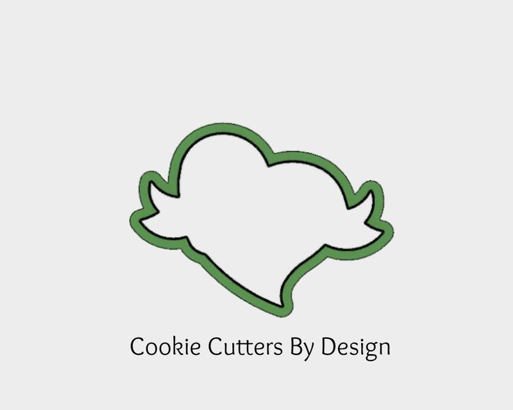 Heart with Banner Cookie Cutter / Valentine's Cookie Cutter / Heart Cookie Cutter / 3D Printed Cookie Cutters / Cookie Cutters by CookieCuttersByDsgn on Etsy