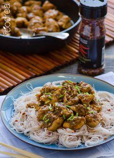 Light Bourbon Chicken Recipe - A healthy cornstarch free version of a classic Asian dish, Bourbon Chicken.