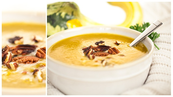 Maple Butternut Squash Soup - Blendtec recipes. Note: replace sugar with xylitol & brown coconut sugar