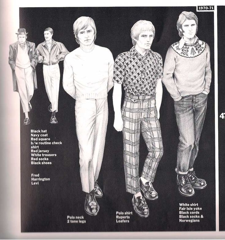 Suedehead fashions of the early 70s