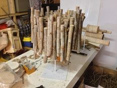 Wooden object, betula (one of the basic objects) of the winning State 2.2 on FloraHolland Trade Fair