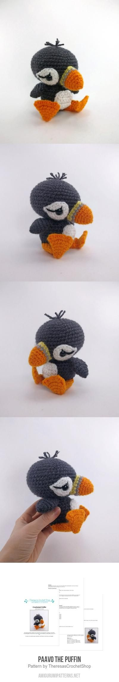 Paavo the Puffin amigurumi pattern