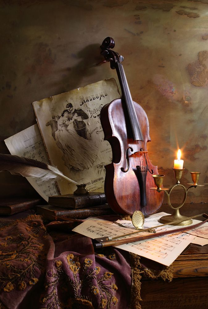 Still life with violin by Andrey Morozov on 500px