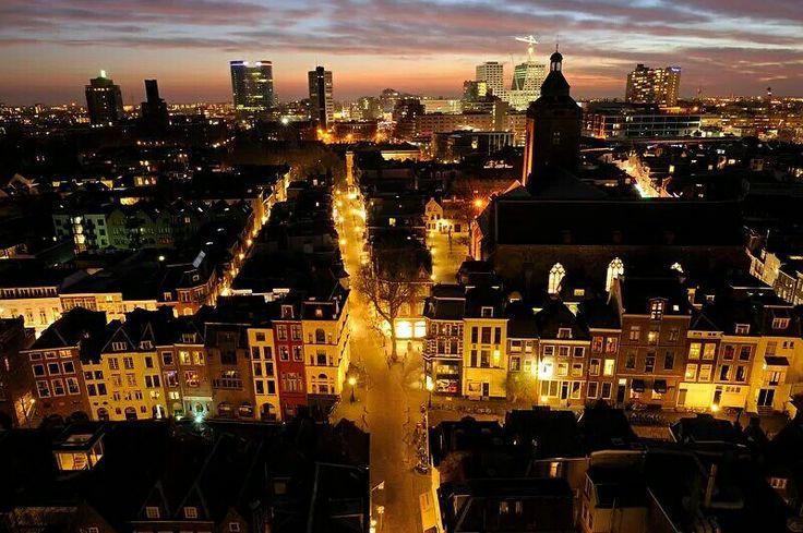 Utrecht view from dom tower donker utrecht