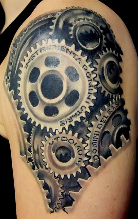 cogs and gears tattoo | Gears And Cogs Tattoo Pin gear cog tattoo on pinterest